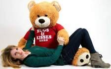 Big Plush Giant 5 Foot Soft Teddy Bear Wears T-shirt HUGS AND KISSES XOXO