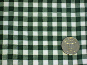 BOTTLE FOREST GREEN GINGHAM CHECK KITCHEN PATIO OILCLOTH VINYL TABLECLOTH 48x96