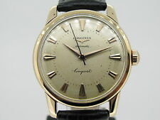 LONGINES CONQUEST 18K SOLID GOLD - Completely Serviced - Swiss Made -  YEAR 1949