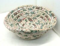 Cloth Rope Woven Basket Hand Made, Collectible