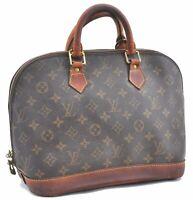 Authentic Louis Vuitton Monogram Alma Hand Bag M51130 LV B7421