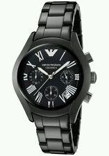 New Emporio Armani AR1401 Ladies Black Ceramica Designer Watch - Uk Seller