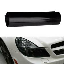 Black Car Fog Light Tint Vinyl Film Sheet Headlight Taillight Wrap Cover Glossy