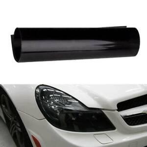 Black Car Fog Light Tint Vinyl Film Sheet Headlight Taillight Wrap Cover Glossy