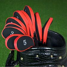 10pcs Black Neoprene Golf Club Head Cover Wedge Iron Sleeve Protector Case Sale