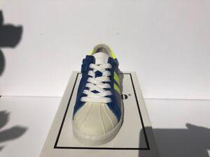 Gattino G1143 Sneaker Jungen, Blau/ weiß/ Neongelb,Glattleder, Schnüren+ RV, NEU