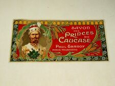 Etiquette Ancienne Savon Tranoy Caucase vers 1900 Russie Prince Cosaque chromo