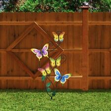 Butterfly Outdoor Lawn Garden Decor Patio Stake Yard Wall Art Ornament Statue