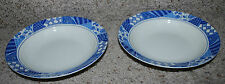 Majesticware Sakura Patch of Blue White Stoneware Dinnerware LOT 2 Bowls 1994