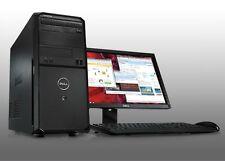 "FAST CHEAP DELL VOSTRO COMPUTER PC C2D PCWindows 7 Pro with 19"" TFT Monitor"