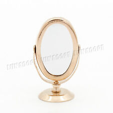 1:12 Dollhouse Golden Makeup Cosmetic Oval Mirror Metal Miniature Accessory Gift