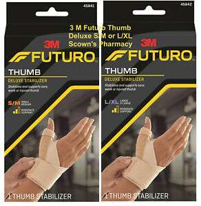 Genuine 3M Futuro Thumb Deluxe Stabiliser Relieve Joint Pain All Sizes S-XL *NEW