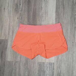 Lululemon Size 6 Run Speed Short Very Light Flare Orange Gym Shorts