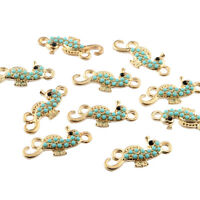 10pcs Hippocampus Inlaid Beads Connector Alloy Charms DIY Jewelry Making 25*11mm