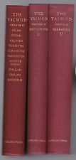 3 odd volumes from The Talmud, Nashim II and IV and Zera'im II, Epstein, 1936