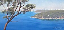 Sydney Harbour From Georges Heights- Original Australian Landscape Oil Painting.