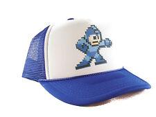 Vintage Mega Man Trucker Hat video game mesh hat snapback hat royal blue