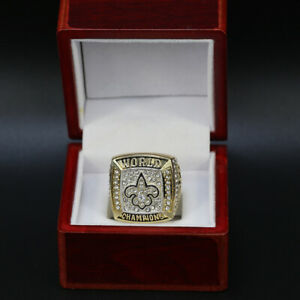 2009 New Orleans Saints Super Bowl Custom Ring WITH Wooden Box - Drew Brees