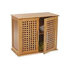 Meuble de salle de bain 2 portes en bambou