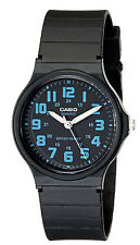 Casio MQ71-2B Unisex Black Resin Band Classic Blue Numbers Dial Analog Watch