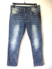 Buffalo David Bitton Mens 38X32 Ash-X Acid Washed Skinny Stretch Jeans New