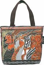 Moroccan Mares Laurel Burch Small Horse Canvas Purse Tote Handbag Black