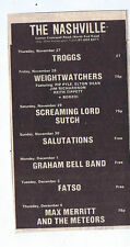 TROGGS / SCREAMING LORD SUTCH - NASHVILLE press clipping 1975 9x15cm (29/11/75)