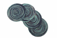 Camellia® Woven Colorful Non-Slip Table Placemats 15 Inches Round Set Of 4