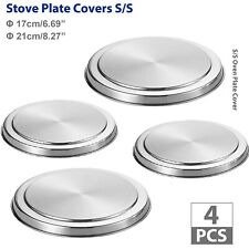 4Pcs/Set Stainless Steel Kitchen Stove Top Burner Covers Cooker Protection Cover