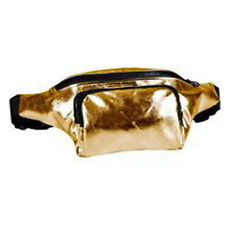 80's Style High Shine Bum Bag - 80's Fancy Dress - Gold