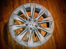 "Tesla Industrial Living Room Side End Coffee Table Stand 19"" Wheel Decor Custom"
