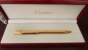 Authentic Must de Cartier Gold Plated Ball Point Pen- MINT condition