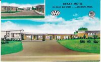 "Jackson MS   ""The Drake Motel"" Postcard Mississippi *FREE U.S. Shipping*"