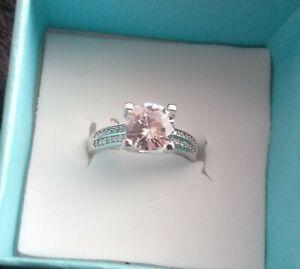 Beautiful glitter platinum ring pt950 marked gift engagement ring