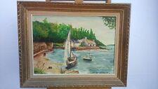 Oil on canvas signed. Huile sur toile signée R MERLEN bateaux marine boats