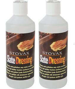 2 x Stovax Slate Dressing Oil Cleans & Polish Shines slate Tile Floor 500ml