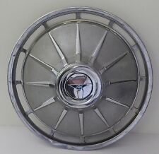 "Chevrolet Chevy Hub Cap 13"" Wheel Metal Finish Grooved Center Emblem 1960's USA"