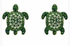 Swarovski 5533757 Mustique Sea Life Turtle Pierced Earrings Green GOS Crystal