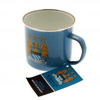 Man City Enamel Tin Mug - Official Manchester City Merchandise - Ideal Gift