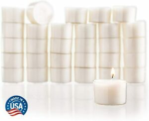Stock Your Home Unscented Tealight Candles - White (Set of 30)