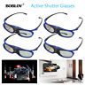 4Packs JX-30 3D Active Shutter Glasses DLP-Link 96-144Hz For 3D Projector Cinema