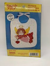 Neat /& Nifty Stamped Cross Stitch Complete Bib Kit #143-11 Jack-In-The-Box