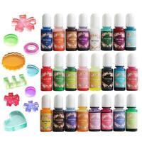 24colors Dyes Soap Making Coloring Set Liquid Tool Colorants For DIY Bath Bomb
