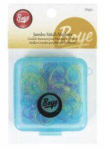 Boye Simplicity 35x Jumbo Locking Stitch Markers - Flexible - Case - Knitting