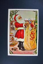 791) CHRISTMAS SANTA WITH SACK OF TOYS / 1980 MERRIMACK PUBLISHING CORP NEW YORK