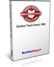 Akron Canton & Youngstown Railway Track Chart - PDF on CD - RailfanDepot