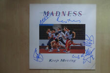 "Madness AUTOGRAFI SIGNED LP-COVER ""KEEP MOVING"" vinile"