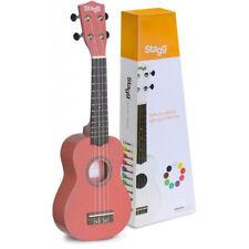 Stagg 4 Strings Beginners Soprano Ukulele Uke Musical Instrument With Bag