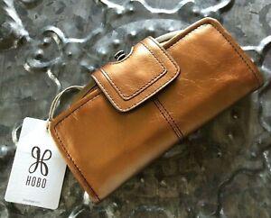 HOBO INTERNATIONAL~Nova Leather Clutch Wallet Wristlet~NEW PENNY COPPER~BNWT