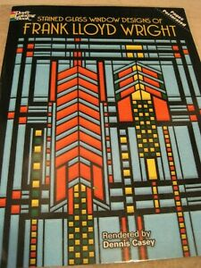 Book FRANK LLOYD WRIGHT STAINED GLASS Window Designs Pattern 2016